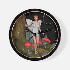 Fairy Butterfly Wall Clock