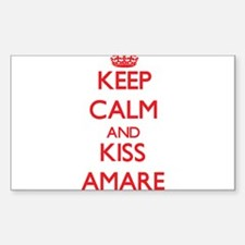 Keep Calm and Kiss Amare Decal