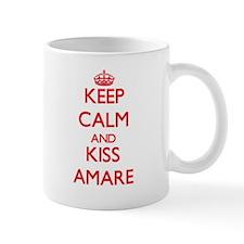 Keep Calm and Kiss Amare Mugs
