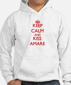 Keep Calm and Kiss Amare Hoodie
