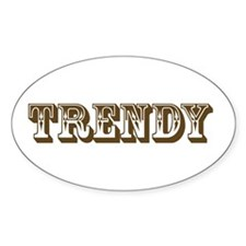 Trendy Oval Decal