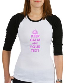 Pink keep calm and carry on Baseball Jersey
