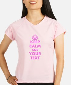 Pink keep calm and carry on Performance Dry T-Shir