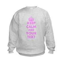 Pink keep calm and carry on Sweatshirt