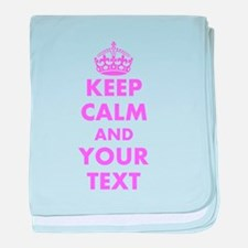 Pink keep calm and carry on baby blanket