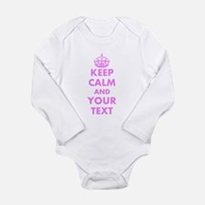 Pink keep calm and carry on Body Suit