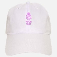 Pink keep calm and carry on Baseball Baseball Baseball Cap
