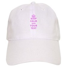 Pink keep calm and carry on Baseball Baseball Cap