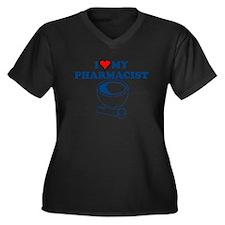 I LOVE MY PHARMACIST T-SHIRT  Women's Plus Size V-