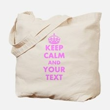 Pink Keep Calm And Carry On Tote Bag | Personalize