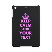 Pink keep calm and carry on iPad Mini Case