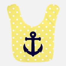 Nautical Anchor Polka Dot Bib