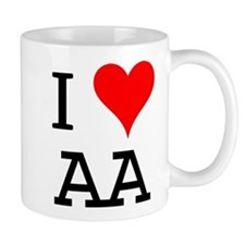 I Love AA Small Mug