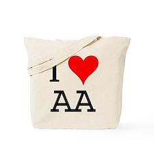 I Love AA Tote Bag
