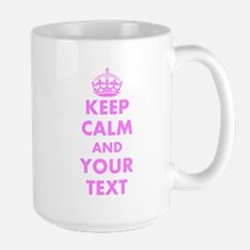 Pink Keep Calm And Carry On Mugs | Personalize