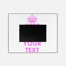 Pink keep calm and carry on Picture Frame