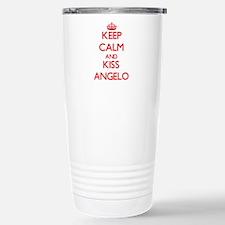 Keep Calm and Kiss Angelo Travel Mug
