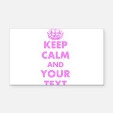 Pink keep calm and carry on Rectangle Car Magnet
