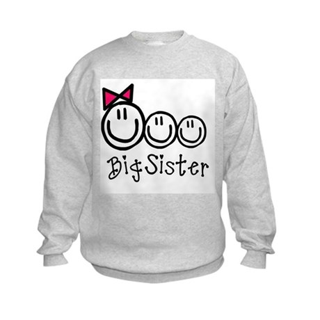 Big Sis of Three Kids Sweatshirt