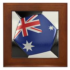 Australia Soccer Ball Framed Tile