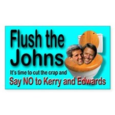 Flush the Johns Kerry & Edwards Decal