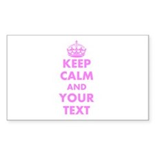 Pink Keep Calm And Carry On Sticker | Customizable