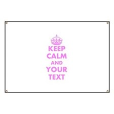 Pink keep calm and carry on Banner