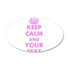 Pink keep calm and carry on Wall Decal