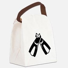 Diving Fins Flippers Canvas Lunch Bag