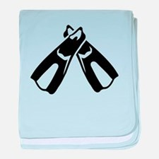 Diving Fins Flippers baby blanket