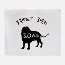 Hear Me Roar Throw Blanket