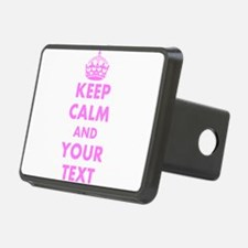Pink keep calm and carry on Hitch Cover