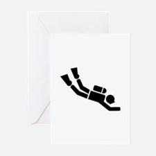 Scuba Diving sports Greeting Cards (Pk of 10)