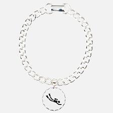 Scuba Diving sports Charm Bracelet, One Charm