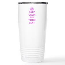 Personalized Funny Pink Travel Mug