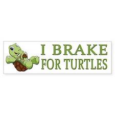I Brake for Turtles Bumper Stickers