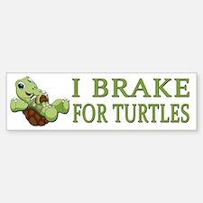 I Brake for Turtles Sticker (Bumper)