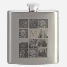 Monogram and Photoblock Flask
