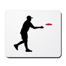 Disc golf player Mousepad