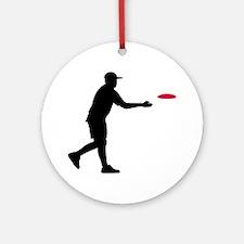 Disc golf player Ornament (Round)
