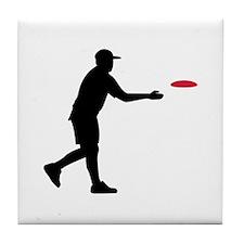 Disc golf player Tile Coaster