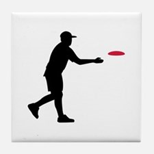 Disc golf player Tile Coaster
