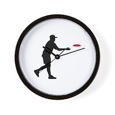 Disc golf player Wall Clock