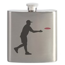 Disc golf player Flask