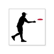 "Disc golf player Square Sticker 3"" x 3"""