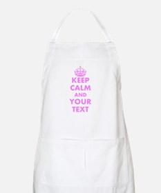 Pink Keep Calm And Carry On Baking Apron