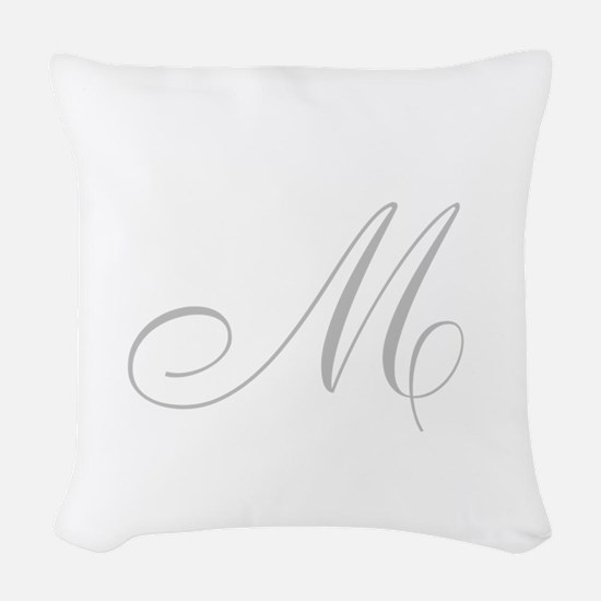 Plain White Square Woven Throw Pillow