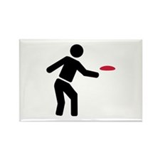 Disc golf player Rectangle Magnet