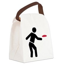Disc golf player Canvas Lunch Bag
