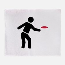 Disc golf player Throw Blanket